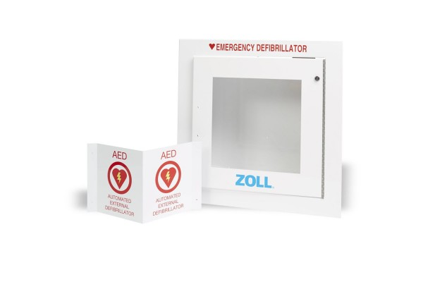 ZOLL AED Plus Wandschrank Version 1 Flush (versenkt in der Wand)