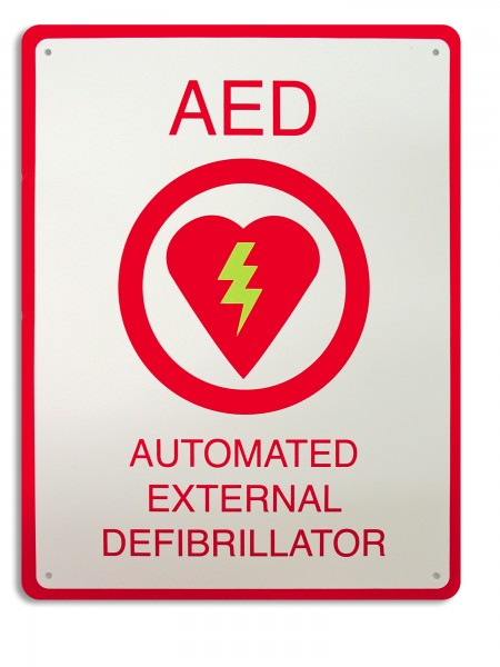 AED Plus Wandschild (ohne 3D)